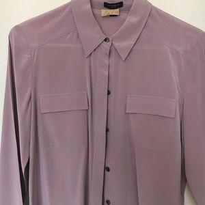 Zara silk bottom down shirt